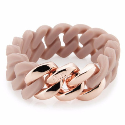 The Silicone bracelet   Cameo Rose & Pink Gold