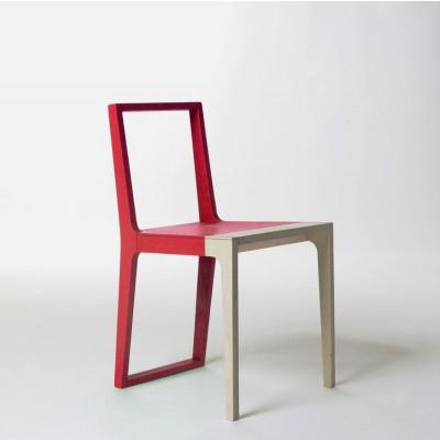 Stuhl Haut | Rot