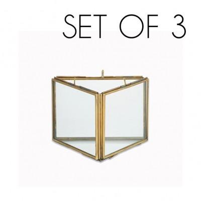 Danta Dreifachrahmen 3er-Set   Antikes Messing