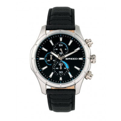 Watch Lacroix | Silver & Black Genuine Leather