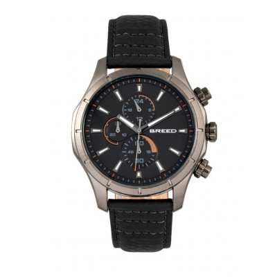 Watch Lacroix | Gunmetal & Black Genuine Leather