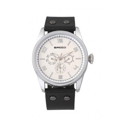 Watch Rio | Silver & Black Genuine Leather