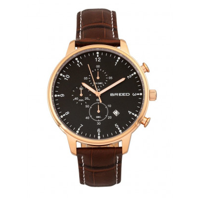 Watch Holden | Rose Gold & Brown Genuine Leather