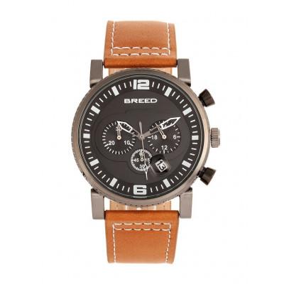 Watch Ryker | Gunmetal & Camel Genuine Leather