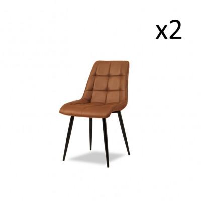 Esszimmerstuhl Bredon   2er-Set   Cognac