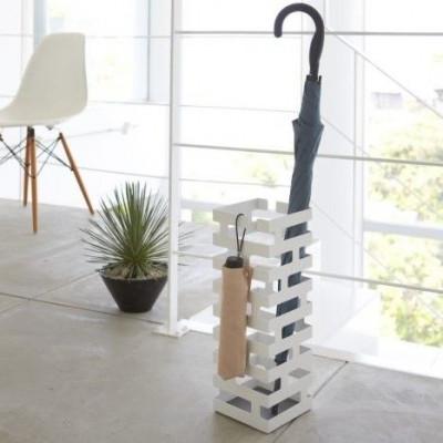 Umbrella Stand Square Brick | White