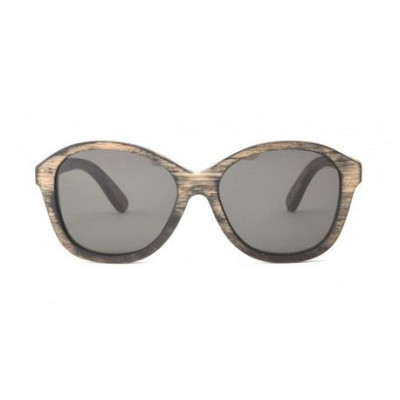 Brigitte Wooden Sunglasses   Vintage Black
