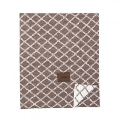 Merinowool Blanket | Brown - White