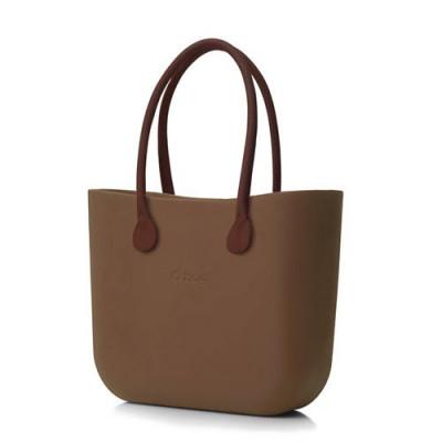 O Tasche braun Ledergriffe   Braun