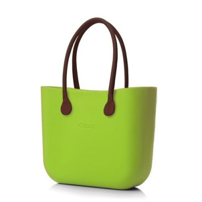 O Tasche braune Ledergriffe   Lime