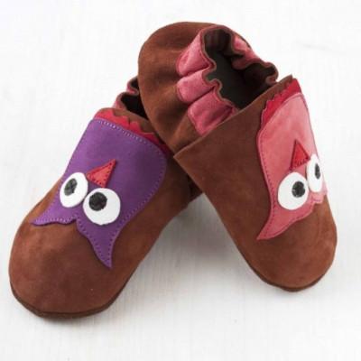 Brauneulen-Softsole-Schuhe