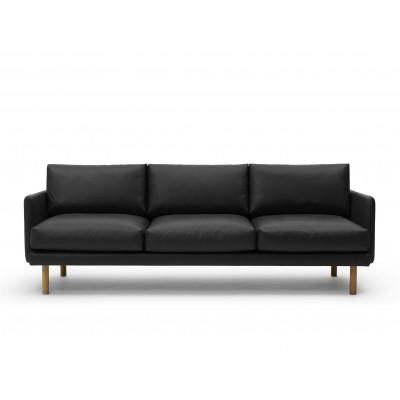 3 Seater Sofa Emo | Black Analin Leather