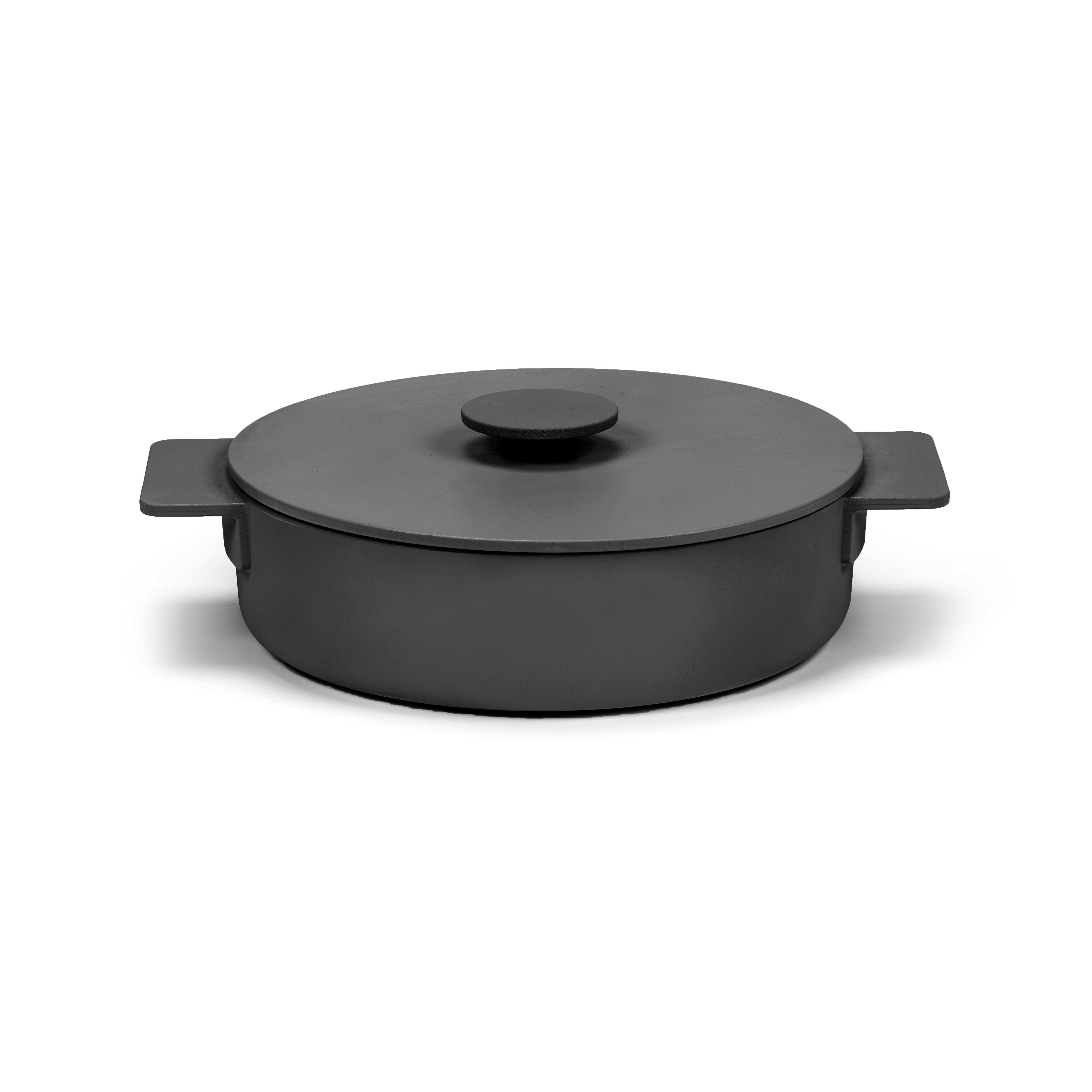 Kasserolle Oberflächenemaille   Schwarz-23 cm