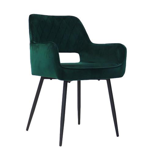 Chaise Mona Velvet   Vert Foncé
