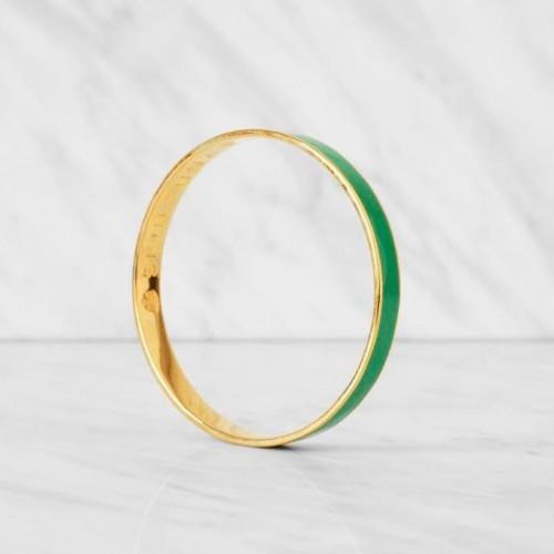 Thin Bangle Bracelet | Bright Green