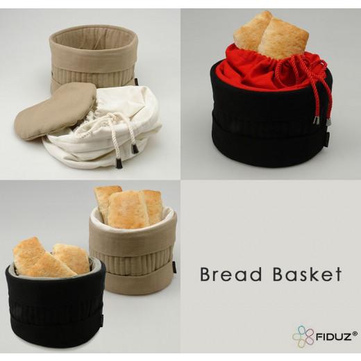 Heated Bread Basket Black/Red