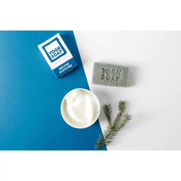 3er-Set Natürliche Joghurtseifen   Durchatmen Waldkiefer   Graublau