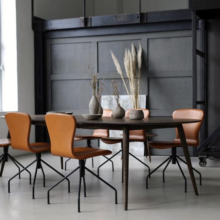 PLAYswing Stuhl Lederpolsterung | Cognac