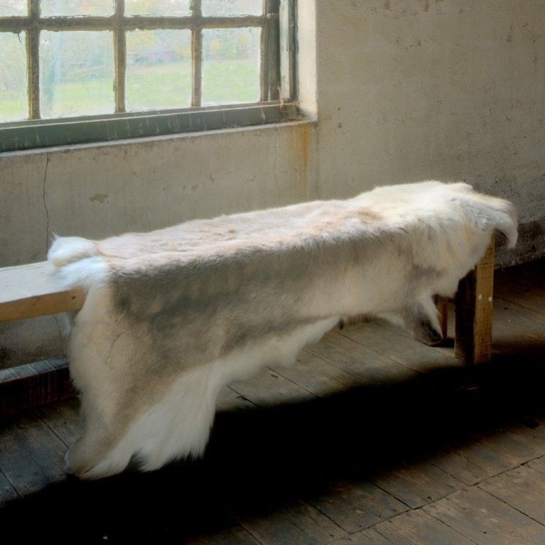 Rentier-Teppich | Hellbraun