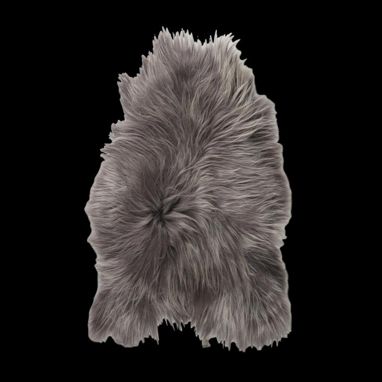 Isländischer Schaf-Teppich   Stahlgrau