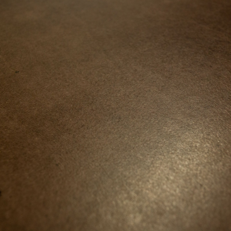 Breazz Leder Tisch U-Rahmen   Dunkelbraun - 160x80cm