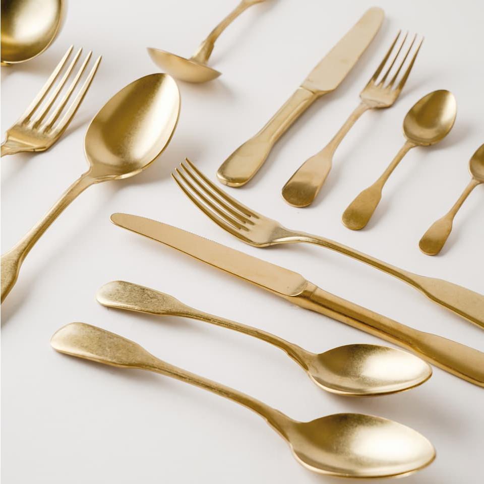Brick Lane Cutlery Set Gold | 24 Pieces
