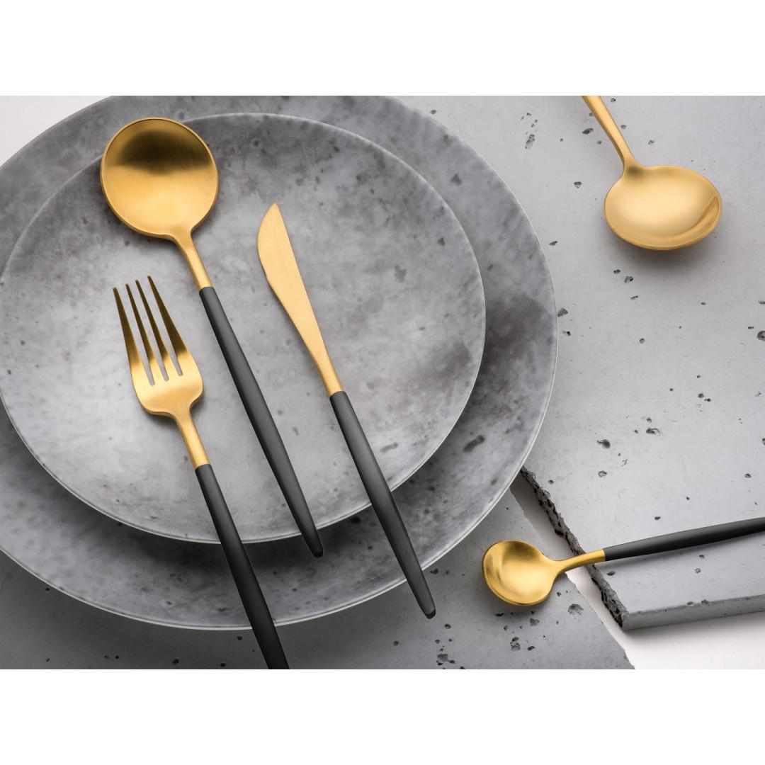 Besteck Set Shangai | Gold + Schwarz