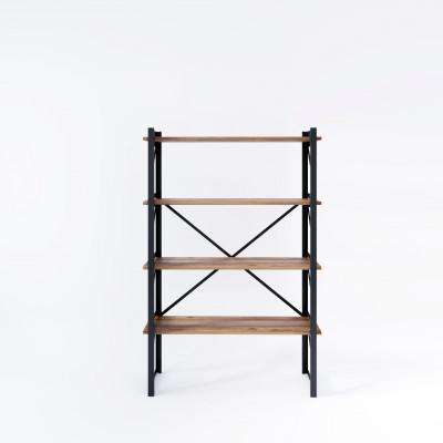 Bücherregal Line 90x35x150 cm | Schwarz-Holz