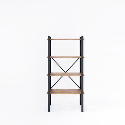 Bücherregal Line 70x35x150 cm | Schwarz-Holz