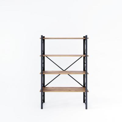 Bücherregal Star 90x35x150 cm | Schwarz-Holz