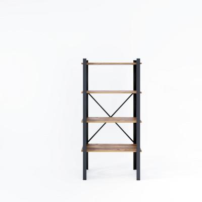 Bücherregal Star 70x35x150 cm | Schwarz-Holz