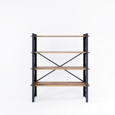 Bookcase Love 120x35x150 cm | Black-Wood