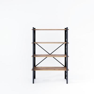 Bücherregal Love 90x35x150 cm | Schwarzes Holz