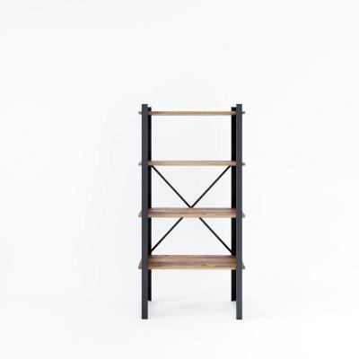 Bücherregal Love 70x35x150 cm | Schwarz-Holz