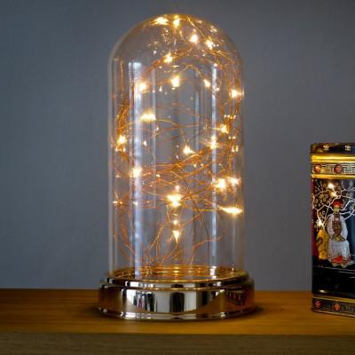 Glas-Tischlampe Lucciola