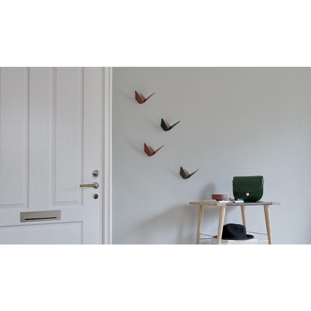 Kleiderhaken Schmetterling | Rubinrot