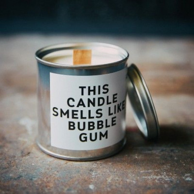 Scented Candle Can   Bubble Gum