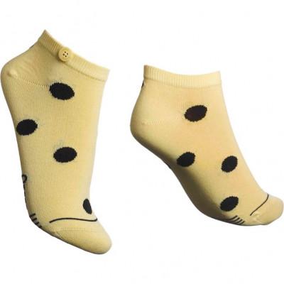Damen-Socken Low Bubble   Gelb