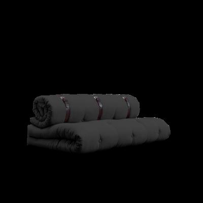 Sofa-Schnalle | Dunkelgrau mit braunem Gürtel