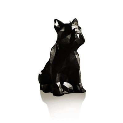 Candle   Bulldog Poly Black