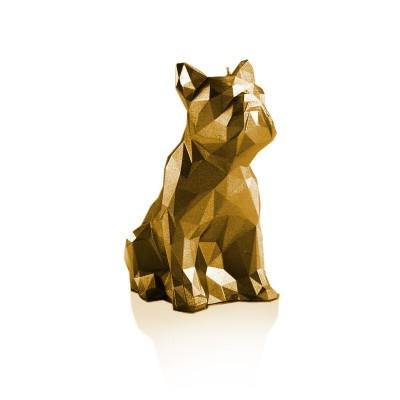 Candle   Bulldog Poly Gold