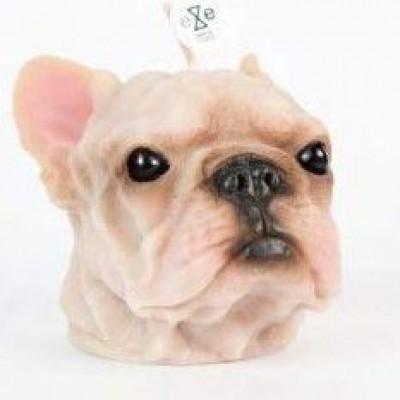 Candle French Bulldog White