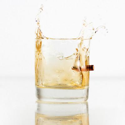 Kugelsicheres Whisky-Glas
