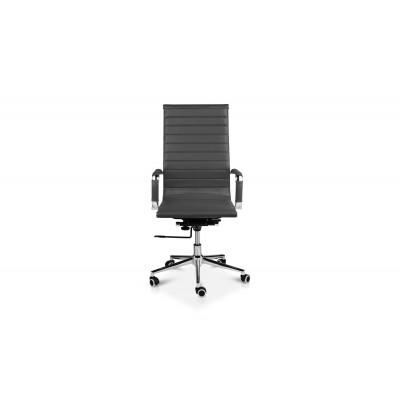 Office Chair Brisbane  | Leather | Dark Grey