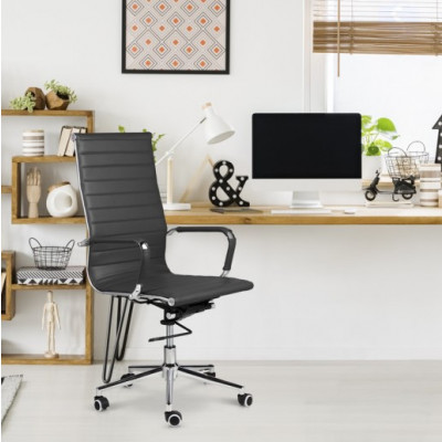 Bürostuhl Brisbane PU-Leder | Dunkelgrau