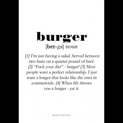 Poster Definition   Burger