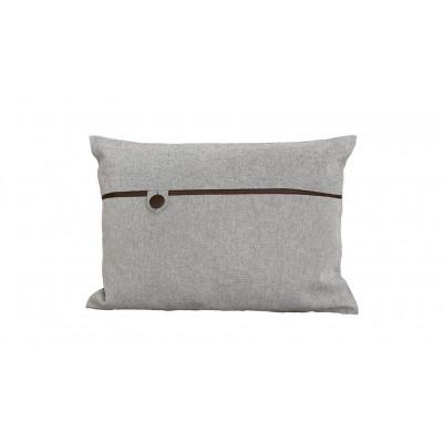 Tailor Made Button Pillow   Dark Brown