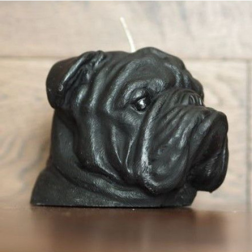 Candle Bulldog Black   Vanilla & Caramel