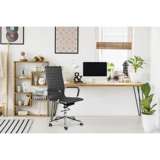Bürostuhl Brisbane PU-Leder   Dunkelgrau