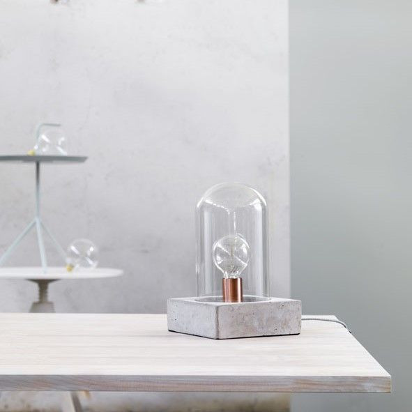 Buddy Table Lamp | Concrete White